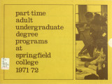 Part-time Adult Undergraduate programs, 1971-1972