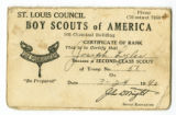 Boy Scouts of America certificate of rank for Joseph F. Lyles, 1942