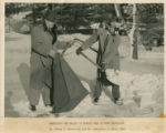 Peter V. Karpovich and Creighton J. Hale, snow shoveling experiment (1949)