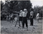 Girls archery at Camp Massasoit