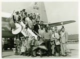 Harlem Globetrotters Flight to Brussels, 1952