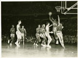 The Harlem Globetrotters in action during the 1952 World Tour
