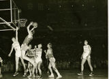 The New York Celtics in action during the 1952 World Tour
