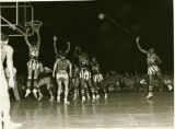 The Harlem Globetrotters in action in Tokyo in 1952