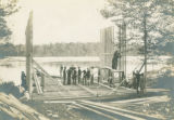 Students Erecting the Gladden Boathouse Frame, 1901