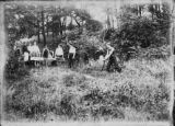 Student Work Crew Preparing to Dig Gladden Boathouse Foundation, 1901