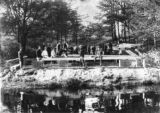 Student Work Crew Laying Gladden Boathouse Foundation, 1901