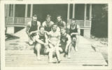 Training School Swimmers at Gladden Boathouse, c. 1910