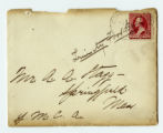 Envelope to letter to Amos Alonzo Stagg from Trinity College dated September 11,  1891