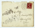 Envelope to a letter to Amos Alonzo Stagg from Weslyan University dated September 23, 1891