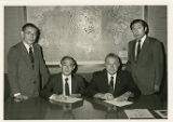 Mr. Kobayashi, Mr. Saito, Dr. Locklin, and Mr. Kotani group photograp
