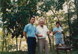 Professor Mizutani and Professor Smith enjoying a barbecue