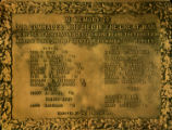 World War I Memorial Plaque