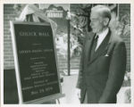 Dr. John Halsey Gulick at Gulick Hall Dedication, 1970