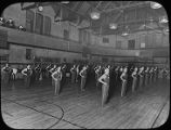 Freshman Calisthenic Drill in West Gymnasium, 1917
