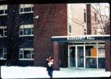 Massasoit Hall Snow Scene, 1976