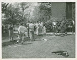 Class of 1948 building sidewalks on Springfield College Campus