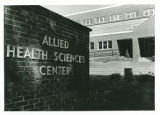 The sign for the Allied Health Sciences Center