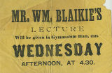 Mr. William Blaikie's Lecture