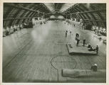 Interior of the Memorial Field House as the Sampson Naval Training Facility;