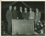 The dedication of the Memorial Field House to the Springfield College Men who Sacrificed in Word...