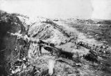 German Trenches at Villers-Bretonneux, France (c. 1918)