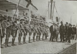 Scouts in Formation on Pier (c. 1911)