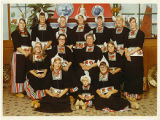 Springfield College Softball Team in traditional dress, Holland, 1971