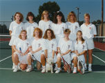 Team Photo of Springfield College Women's Tennis Team, 1991