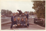 SC Softball Team around Statue in Holland (June 1971)