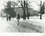 Students walking to class at Schoo-Bemis in winter