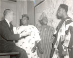 President Olds with Nigerian Students (1963)