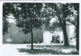 Hickory Hall Front Entrance (Black & White) c. 1975