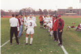 1999 Men's Soccer Team Preparing for Game