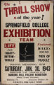 SC Gymnastics Exhibition Team Poster, Whitin Memorial Gym (January 30, 1943)