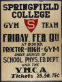 SC Gymnastcis Exhibition Team Poster, Proctor High School Gym (c. 1940)