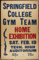 SC Gymnastics Exhibition Team Poster, Tech high School (c. 1938)