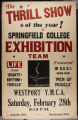 SC Gymnastics Exhibition Team Poster, Westport YMCA (February 28, 1942)