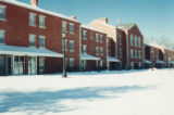 Front of Townhouses in Winter