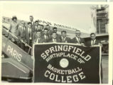 1965 Far East Tour, Springfield College Men's Basketball Team Boarding Airplane