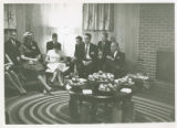 President Olds Entertains Freshmen (Fall 1963)