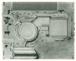 Black and White Drawing/ Aerial View of the Physical Education Complex
