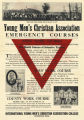 YMCA Emergency Courses Poster (c. 1918)