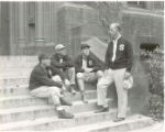 Head Coach Ossie Solem with Ed Hoffman, Ted Dunn, and Paul Ryan, 1953
