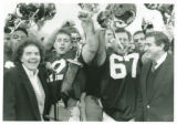 Mayor Mary Hurley Presenting Mayor's Trophy to Chiefs, 1989