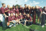 Raking for Humanics In Action Day (September 10, 1998)