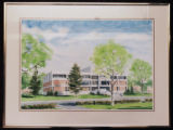 Painting of Babson Library in Spring (1976)