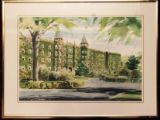Painting of Alumni Hall in Summer (c. 1976)