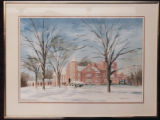 Painting of Judd Gymnasium in Winter (c. 1976)