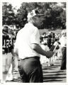 Coach Vandersea at a football game (c. 1976-1984)